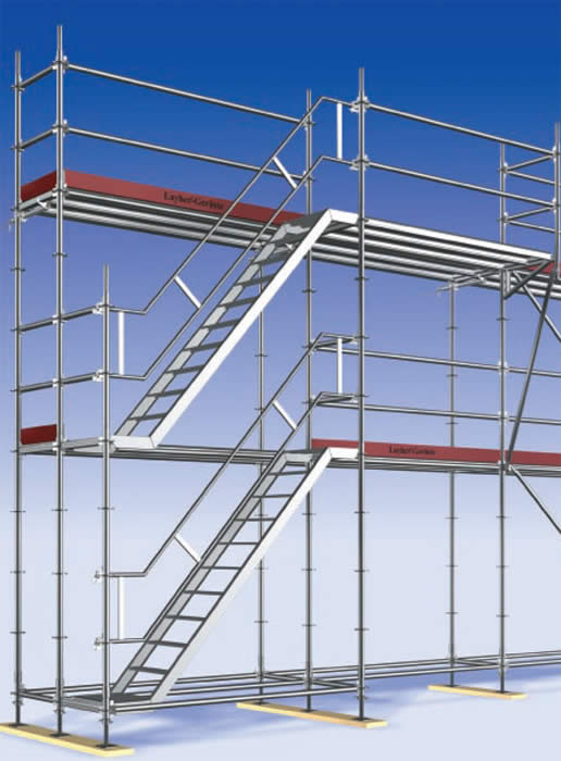 Steel Scaffolding Ladder : Australian scaffold stairs and temporary access