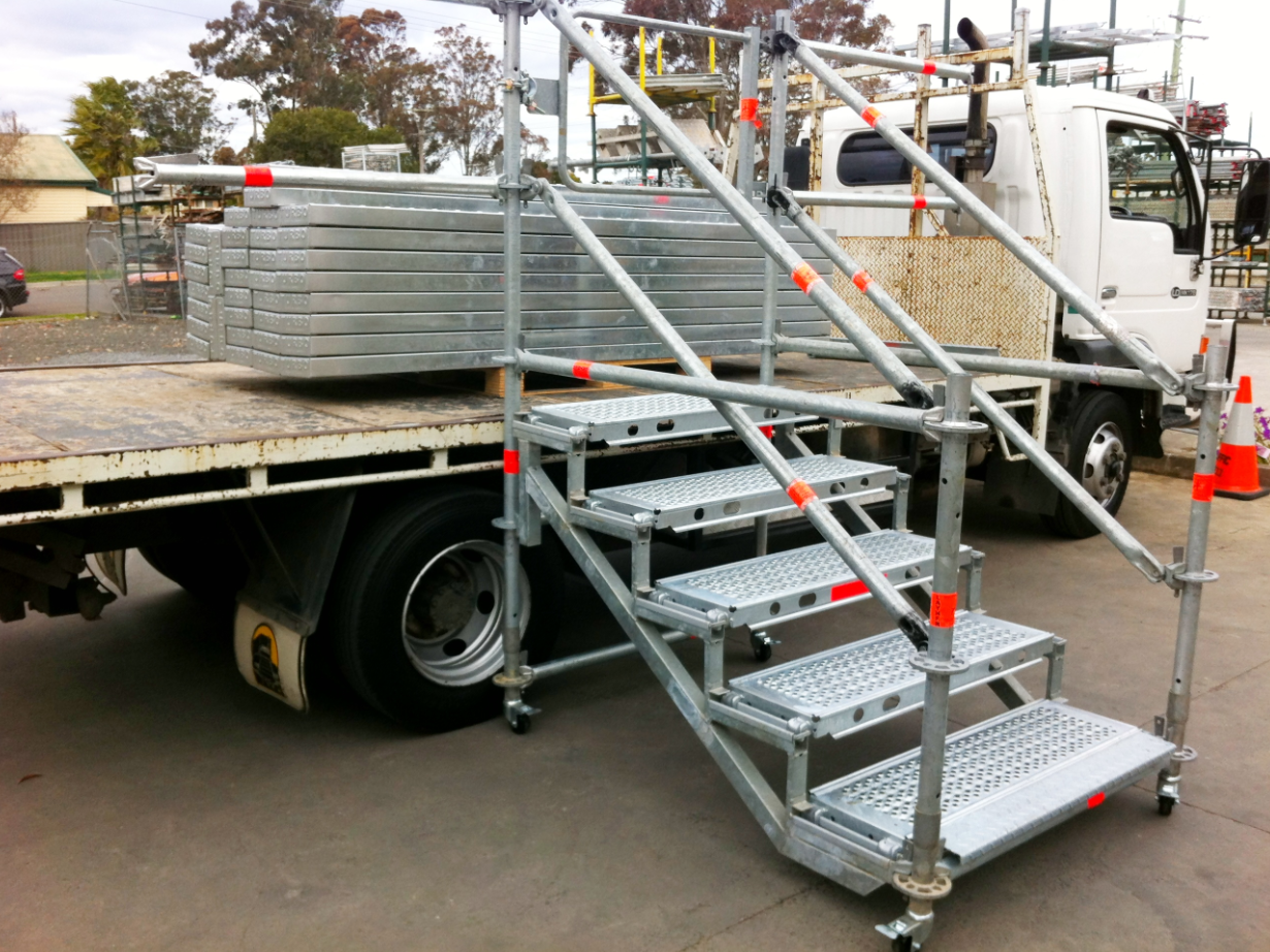 Portable Step For Truck : Australian scaffold stairs and temporary access